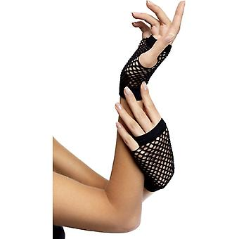 Power glove hanske svart kort FishNet
