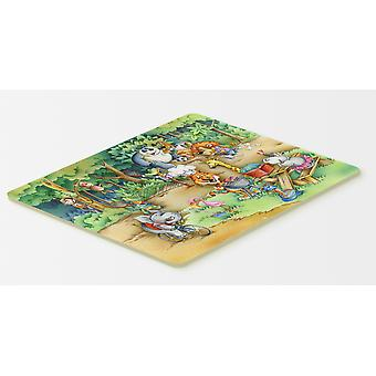 Carolines Treasures  APH6821CMT Animals at A Picnic Kitchen or Bath Mat 20x30