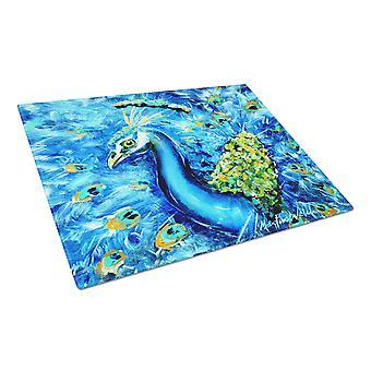 الطاووس مستقيم حتى في قطع الزجاج الأزرق المجلس كبيرة الحجم