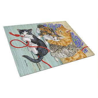Carolines Treasures  ASA2150LCB Cats Glass Cutting Board Large
