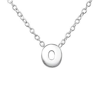 Inital O - 925 Sterling Silver Plain Necklaces - W31448x