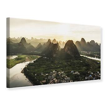 Canvas Print de bergen van Xingping