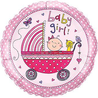 Folha de nascimento de balão bebê menina de chuveiro festa sexo festa cerca de 45 cm