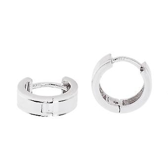 Sterling 925 zilver hoop Earrings hoop earrings - ZIJLIJN 10 mm