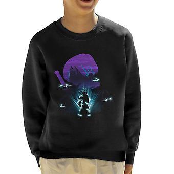 Dragon Ball Z Trunks silhouet Collage Kid's Sweatshirt