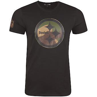 New Era Shirt - NFL Pittsburgh Steelers schwarz / wood camo