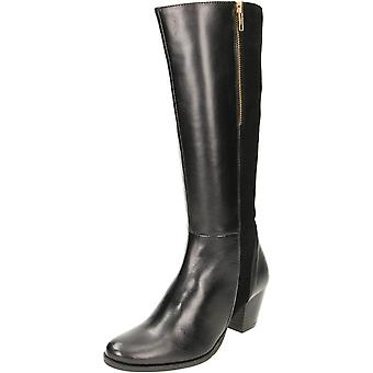 Comfort Plus Wide Fit Leather Suede Heeled Boots