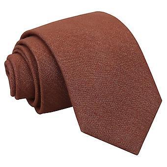 Brown Ottoman Wool Classic Tie