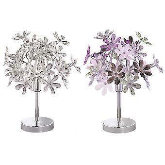 Trio d'éclairage lampe de Table en métal Chrome fleur jeune vie