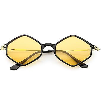 مسدس هندسية النظارات الشمسية الأسلحة ضئيلة جداً لون ملون عدسة 50 مم