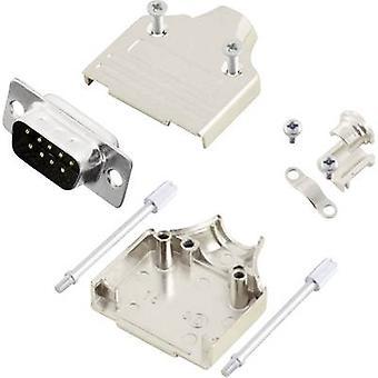 Tira de pin MHDM9-DM9P-K conectores D-SUB de MH sistema 180 º número de pernos: 9 soldadura cubo 1 PC