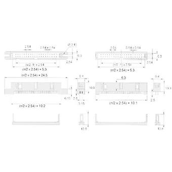 W & P Products Pin strip (standard) 869 Total number of pins 14 Contact spacing: 2.54 mm 369-14-10-0-60 1 pc(s)