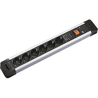 Bachmann 330104 Surge protection socket strip 6x Black, Silver PG connector 1 pc(s)
