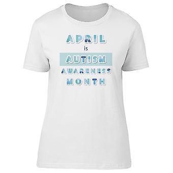 Aprile è l'autismo consapevolezza mese Tee femminile-immagine di Shutterstock