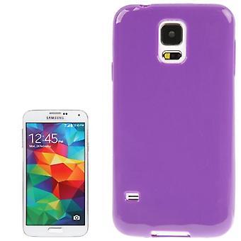 Beschermende case TPU case voor mobiele Samsung Galaxy S5 / S5 neo paars / violet