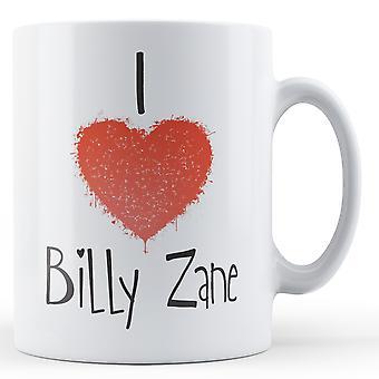 Dekorative schreiben ich liebe Billy Zane gedruckt Mug