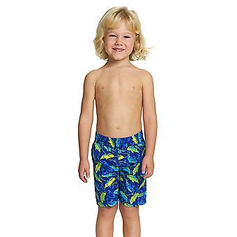 Zogg Junior pojan uima shortsit sinivihreällä 1-6 vuotta lapsille