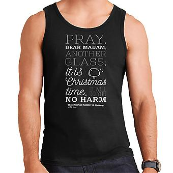 Christmas Pray Madam Another Glass Quote Men's Vest