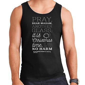 Weihnachten beten Frau ein anderes Glas Zitat Herren Weste