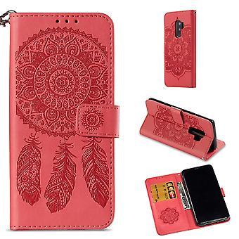 Samsung Galaxy S9 Plus Monedero Caso-Sueño Catcher-Rojo