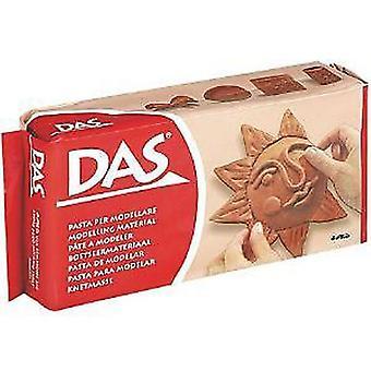 DAS Air Drying Modelling Clay 500g, Colour Terracotta