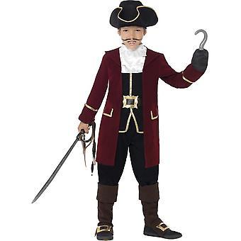 حلي كابتن القراصنة فاخرة، مع سترة، متوسطة العمر 7-9