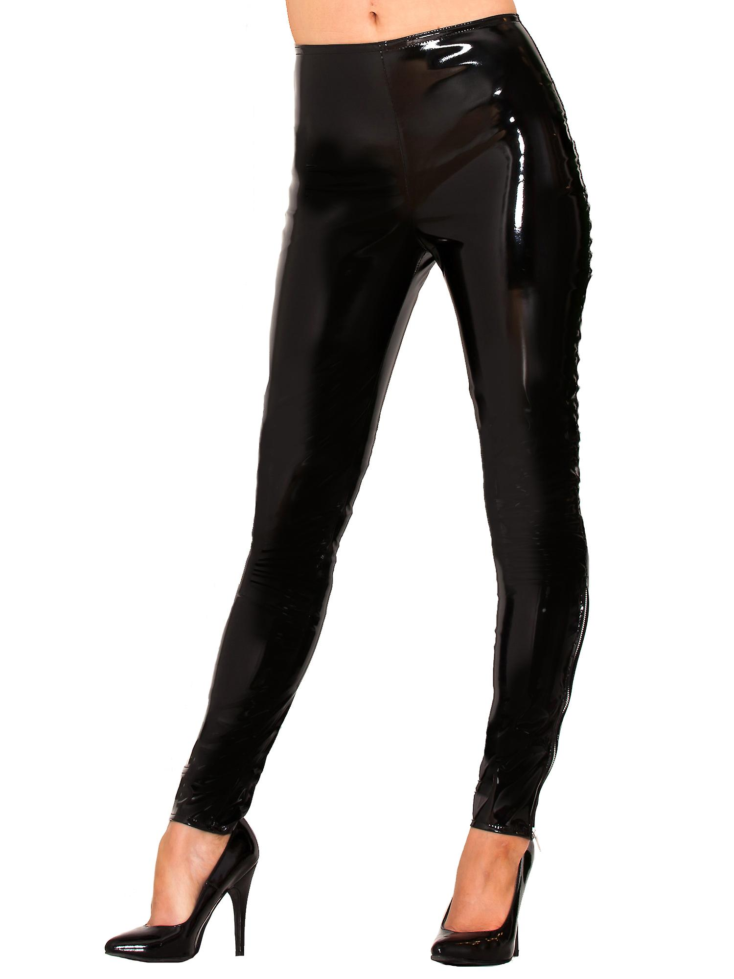 Honour Women's Sexy Leggings in PVC Rubber Hip Hugging High Quality Stitching