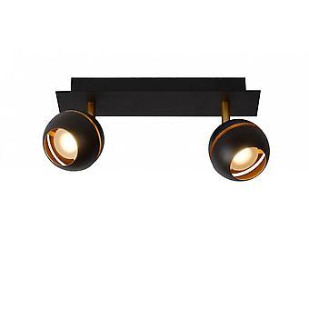 lucide Binari Rectangle moderne métal noir plafonnier Spot
