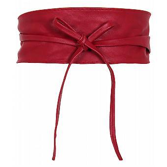 KRISP Womens Soft PU Faux Cuir Self Tie Wrap Around Obi Waist Band Cinch Boho Belt