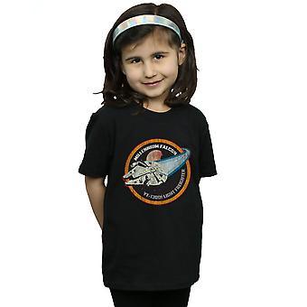 Star Wars ragazze Millennium Falcon distintivo t-shirt
