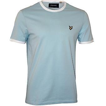 Lyle & Scott Contrast Trim Crew-Neck T-Shirt, bleu rivage