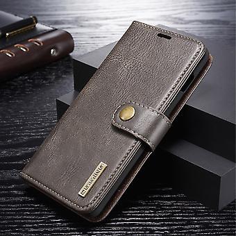 Dg. MING Samsung Galaxy S10 + Split leather wallet Case-grey