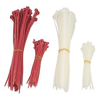 Attaches pour câbles DELTACO 200 mm, 100 mm, 200 &-pack, rouge/blanc
