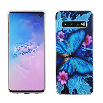 Samsung Galaxy S10 King Shop Phone Case Beschermhoes Cover Bumper Butterfly Blue