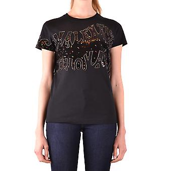 Valentino Ezbc026074 Women's Black Cotton T-shirt