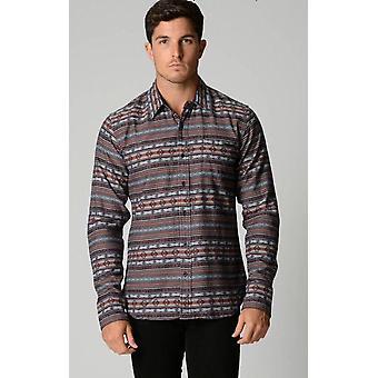 Deacon infusie Azteekse shirt met lange mouwen
