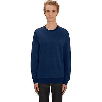 greenT Mens Organic Stroller Denim Crew Neck Sweatshirt