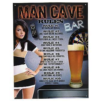 Man Cave regels tin teken