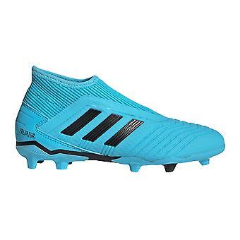 adidas Predator 19.3 Laceless FG Firm Ground Kids Football Boot Cyan/Black