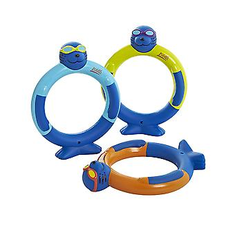 Zoggs Sinking Water Toy Zoggy Dive Rings (pack of 3) in Assorted - 3 years +