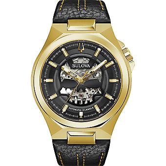 Bulova Maquina Classic Gold PVD Black Leather Skull Skeleton Dial Automatic Mens Watch 97A148 Bulova Maquina Classic Gold PVD Black Leather Skull Skeleton Dial Automatic Mens Watch 97A148 Bulova Maquina Classic Gold PVD Black Leather Skull Skeleton Dial Automatic Mens Watch 97A148 Bulova