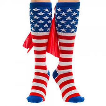 Knee High Cape Sock - Generic - American Flag New Licensed kh2rzmgen