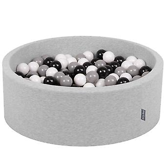 Kiddymoon Baby Foam Ball Pit With Balls 7Cm / 2.75In Certified EU, Light Grey