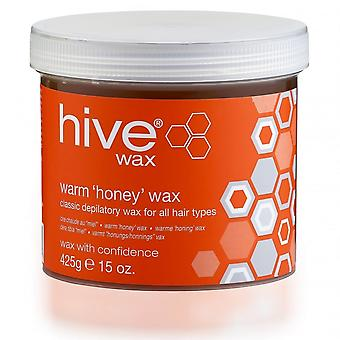 Hive Of Beauty Depilatory Warm Honey Wax Lotion All Hair Types Removal 425g