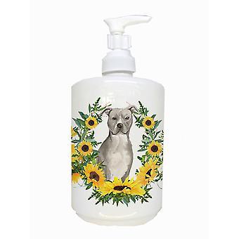 Staffordshire Bull Terrier Ceramic Soap Dispenser