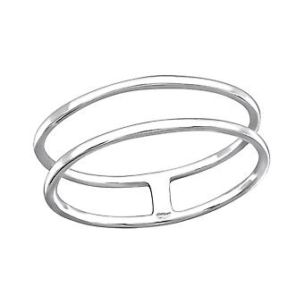 Double Wire - 925 Sterling Silver Plain Rings - W26825X