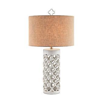 White foiliana table lamp stein world