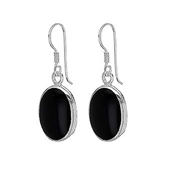 Tuscany Silver Women's Pendant Earrings in Silver Sterling 925 - with Onyx