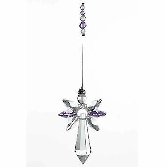 Vaalea Amethyst Guardian Angel Crystal suuri