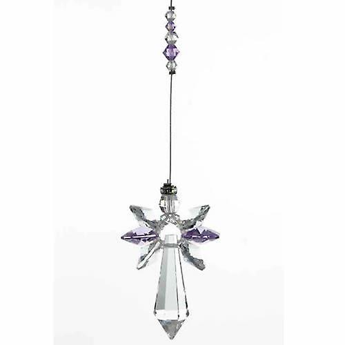 Light Amethyst Guardian Angel Crystal Large